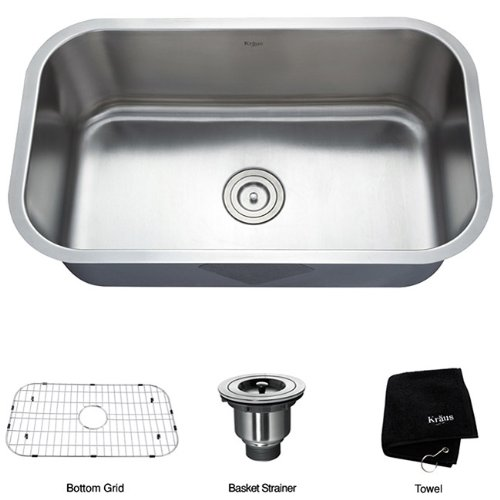 Best Stainless Steel Sinks Rated : ... ? Inch Undermount Single Bowl 16 Gauge Stainless Steel Kitchen Sink