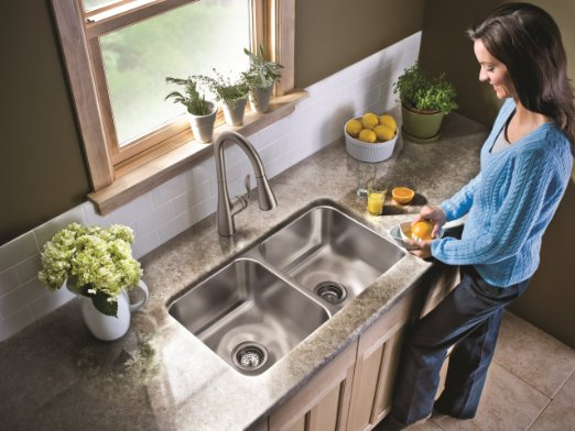 ... Faucet Moen 7594CSL Arbor One Handle High Arc Pulldown Kitchen Faucet_