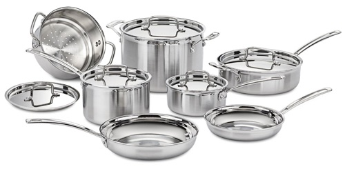 cuisinart mcp12n multiclad pro stainless steel 12piece cookware set
