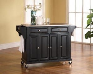 Best Rolling Kitchen Islands/Utility Carts With Stainless Steel ...